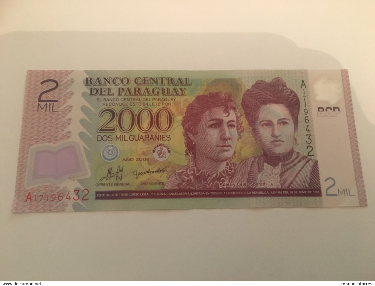 Billet 2000 Guaranies Paraguay 2008 - Paraguay