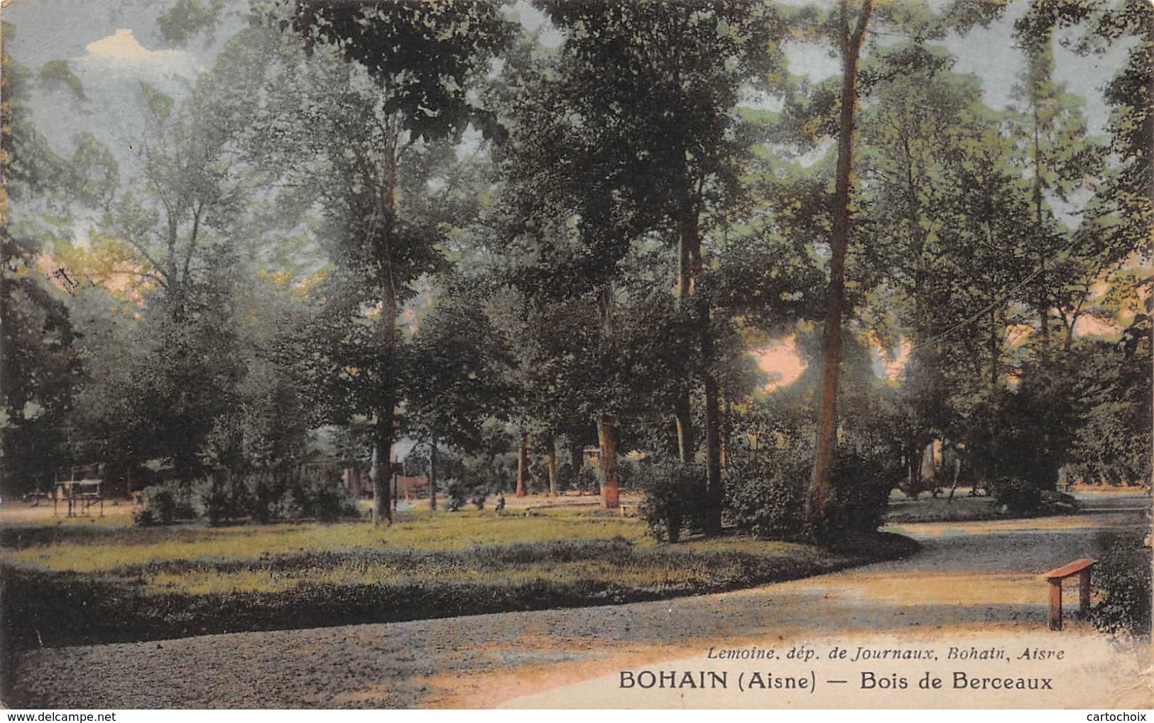 02 - Bohain - Bois De Berceaux - Carte Colorisée - Autres Communes