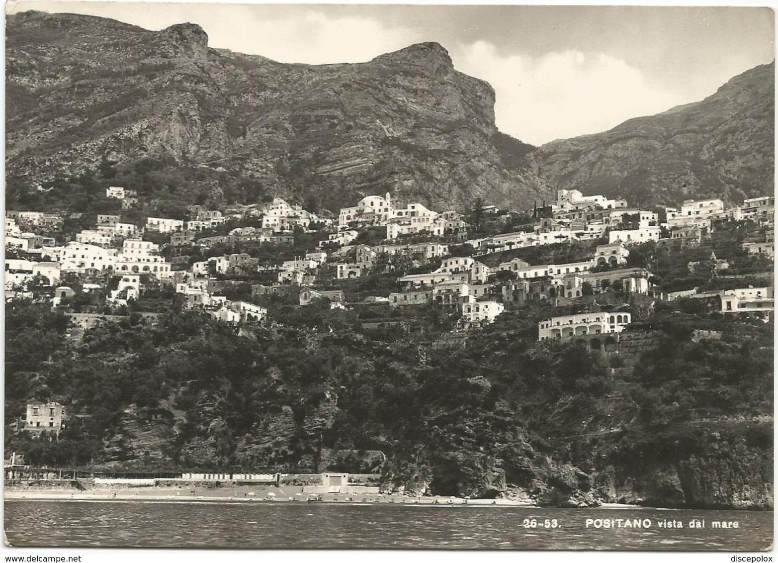W4840 Positano (Salerno) - Panorama Visto Dal Mare / Viaggiata 1957 - Autres Villes