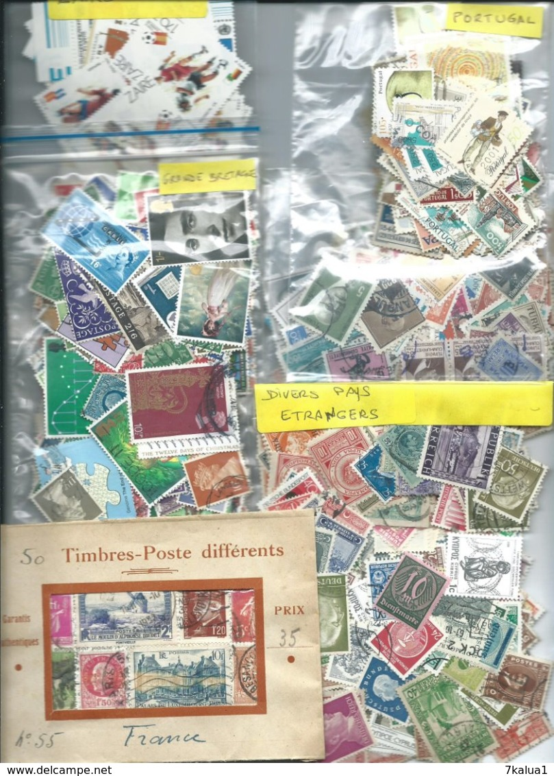 GROS VRAC, Des Milliers De Timbres En Pochettes Et Sur Feuilles D'albums. Tous Pays. - Lots & Kiloware (mixtures) - Min. 1000 Stamps