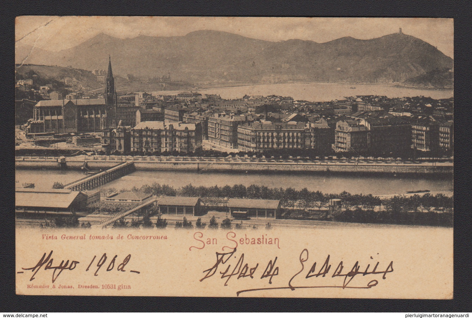 18907 San Sebastian - Vista General De Concorronea F - Spagna