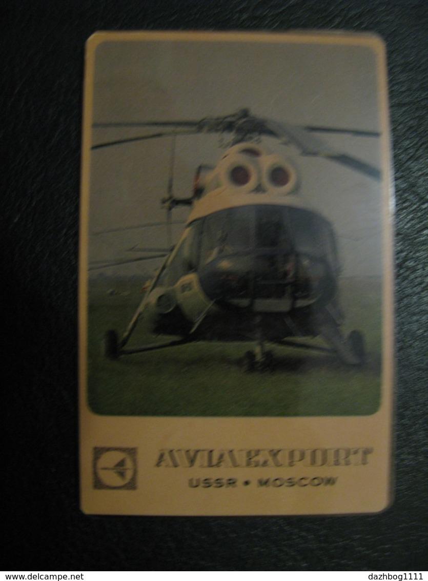 USSR Soviet Russia  Pocket Calendar Aviaexport Helicopter 1969 Rare - Calendars