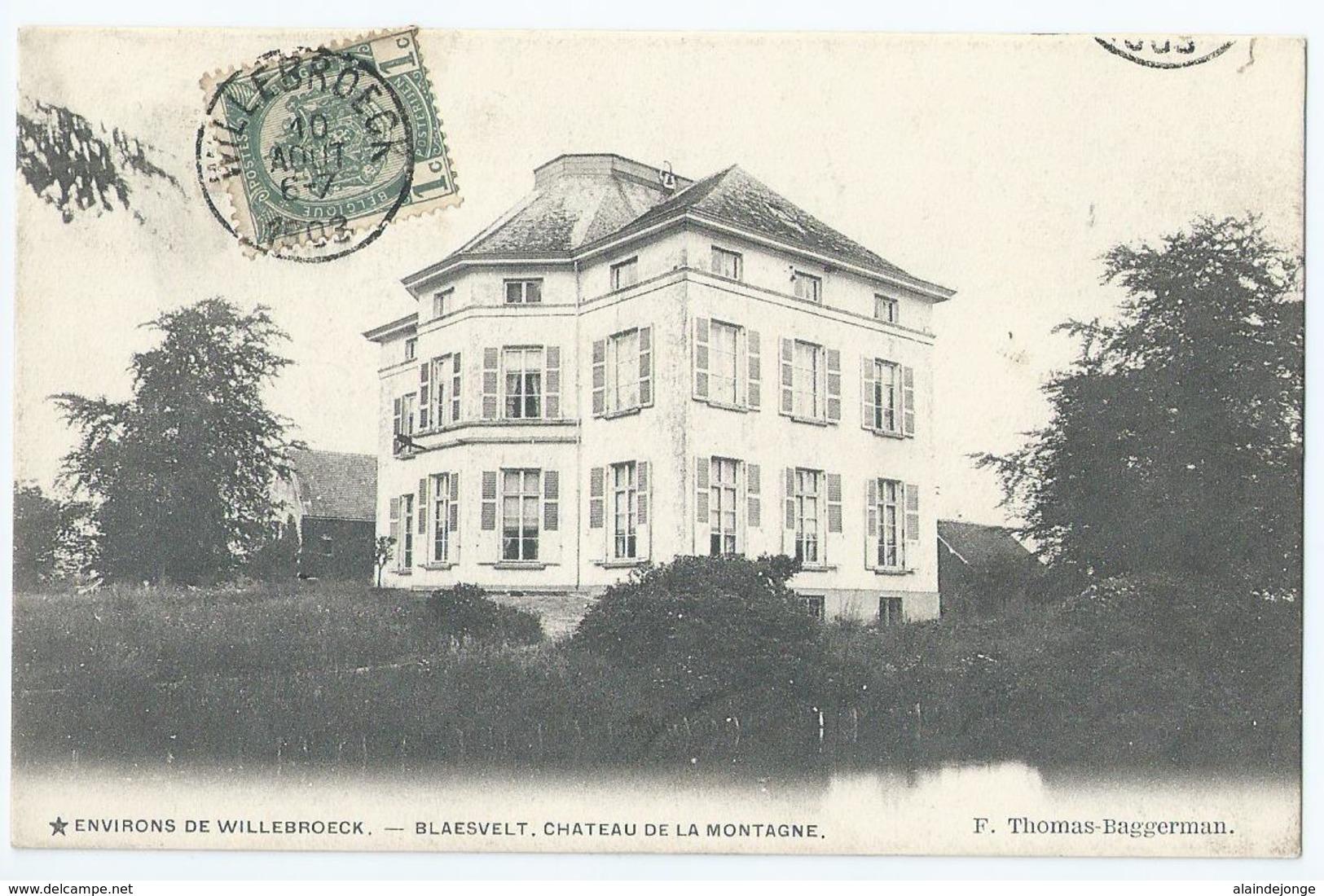 Willebroek - Blaesvelt - Château De La Montagne - Environs De Willebroeck - F. Thomas-Baggerman - 1903 - Willebroek