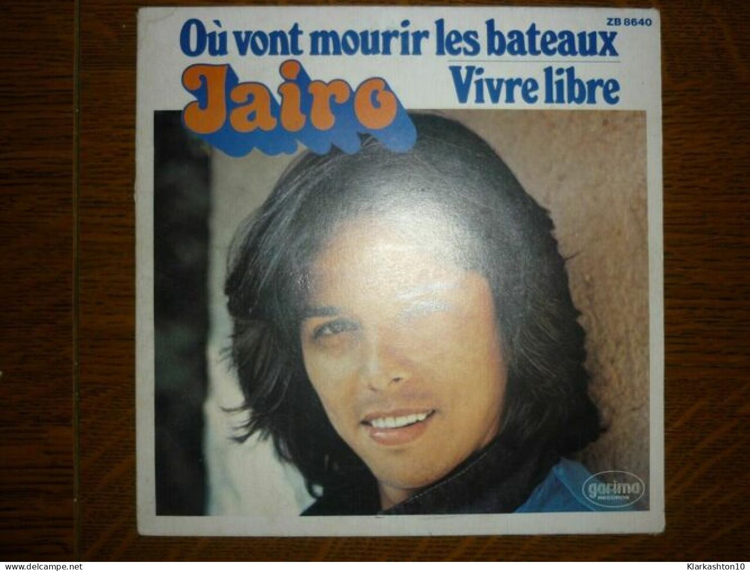 Jairo: Où Vont Mourir Les Bateaux-Vivre Libre/ 45T Garima Records ZB 8640 - Vinyl Records