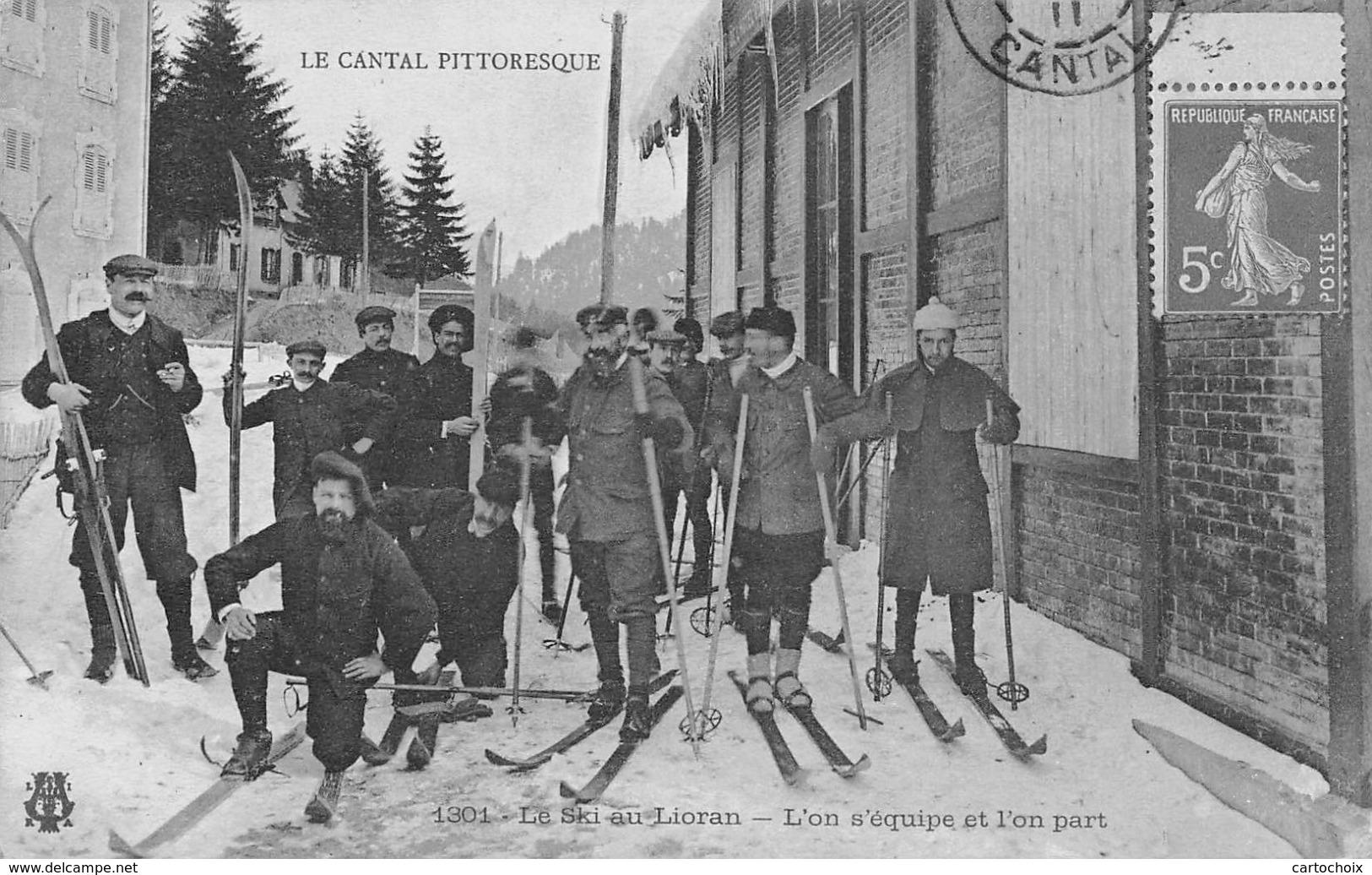 15 - Le Ski Au Lioran - L'on S'équipe Et L'on Part - Splendide Pose Pour Le Départ Du Concours - France