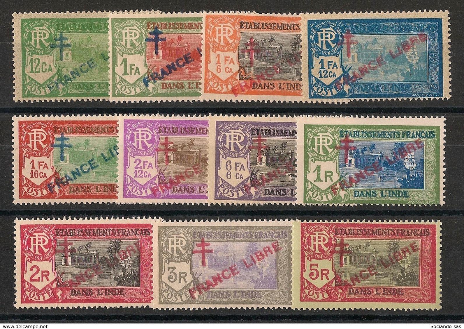 Inde - 1941-43 - N°Yv. 160 à 170 - France Libre - Série Complète - Neuf Luxe ** / MNH / Postfrisch - Ungebraucht