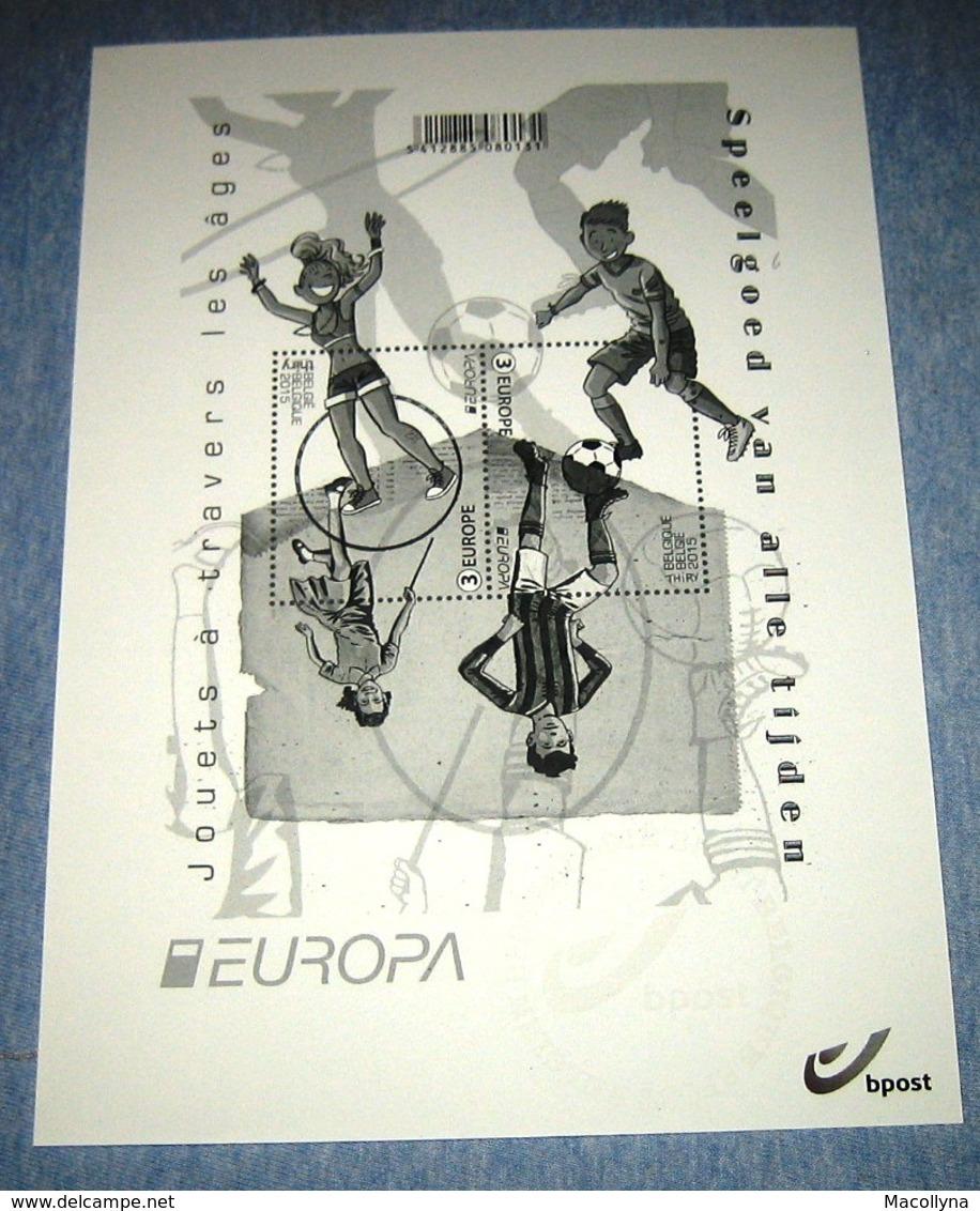 Europa / België 2015  Zwart-Wit Blaadje Van 4517/18** (Blok 226) Speelgoed / Jouets - Feuillets Noir & Blanc