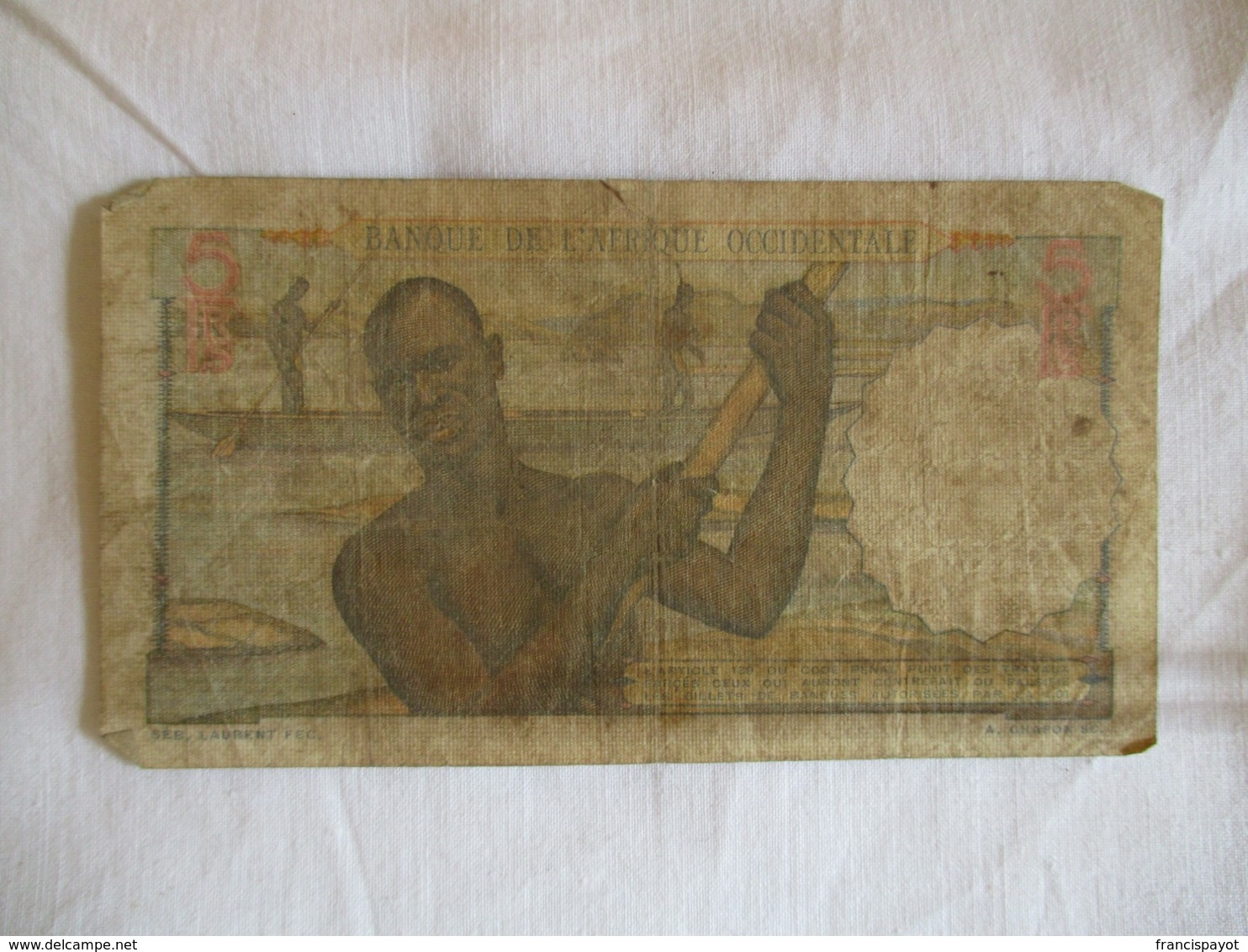 Afrique Occidentale Française: 5 Francs 1953 - West African States