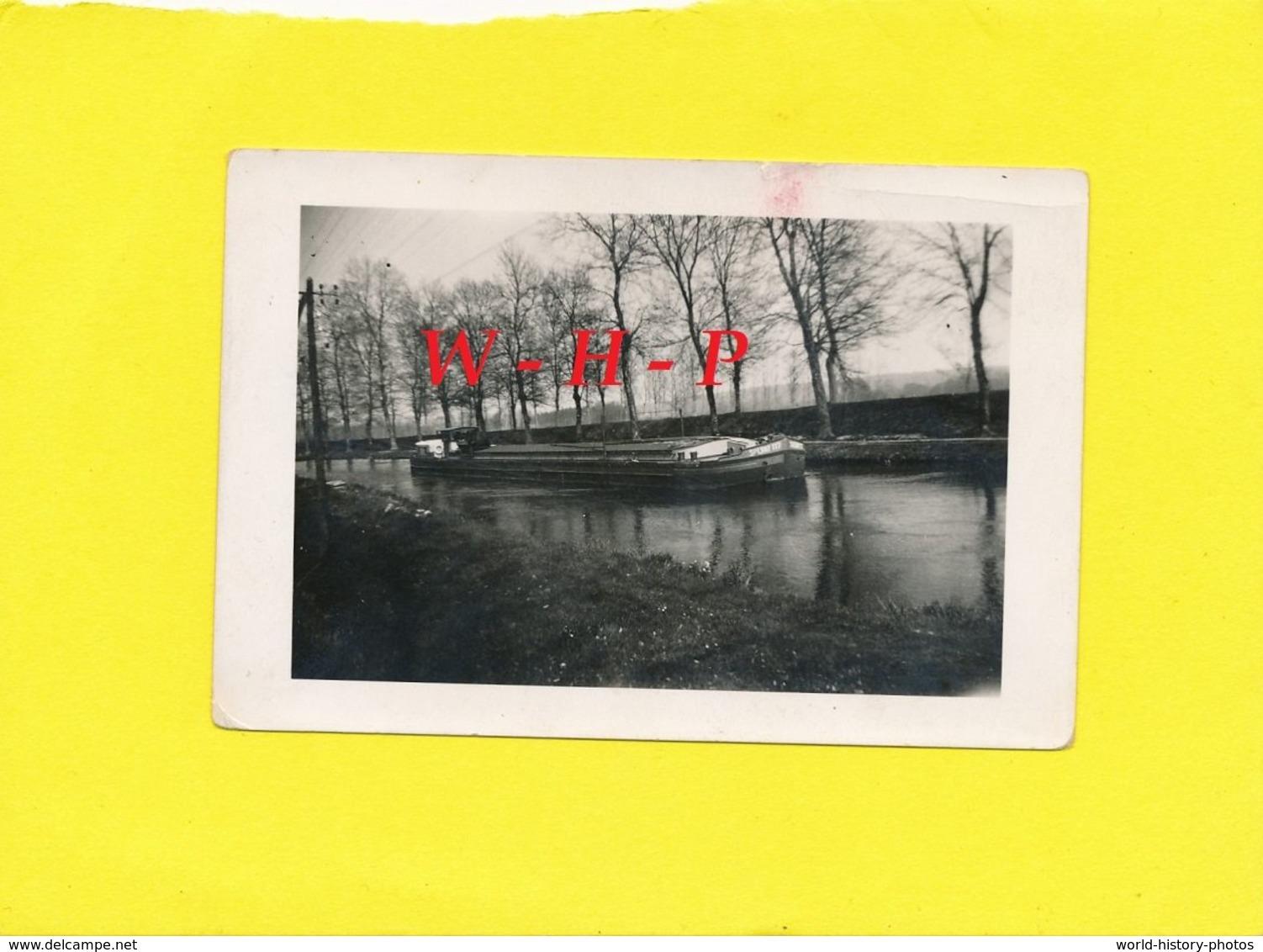 Photo Ancienne - DOMBASLE Sur Meurthe ?  - Péniche  SOLVAY N° 117 - Schiffe