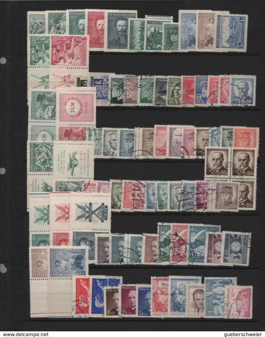 Collection TCHECOSLOVAQUIE Neufs**/* Et Obl. Nombreuses Séries Complètes Et Bloc 21a Non-dentelés Forte Côte - Czechoslovakia