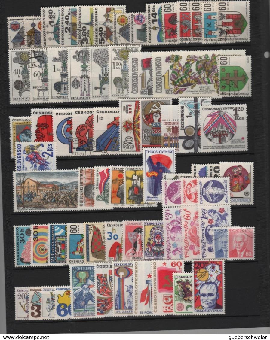 Collection TCHECOSLOVAQUIE Neufs**/* Et Obl. Nombreuses Séries Complètes Et Bloc 21a Non-dentelés Forte Côte - Collections, Lots & Series