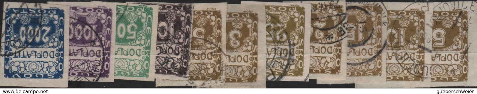 Collection TCHECOSLOVAQUIE Neufs**/* Et Obl. Nombreuses Séries Complètes Et Bloc 21a Non-dentelés Forte Côte - Collections, Lots & Séries