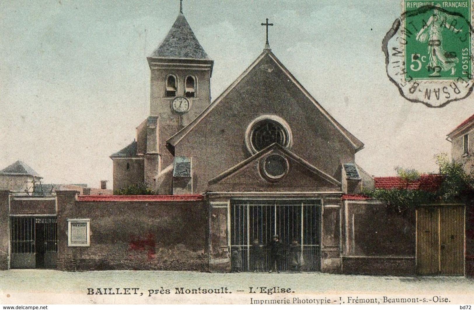 BAILLET ( 95 ) - L' église - Frankrijk