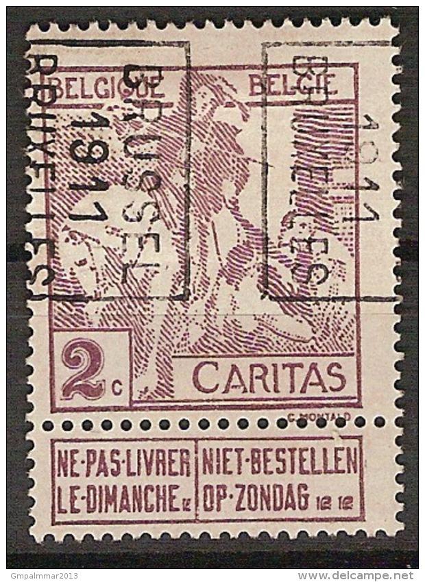 LEMAIRE Voorafgestempeld Nr. 1734 Positie B   BRUSSEL 1911 BRUXELLES  ; Staat Zie Scan ! - Precancels