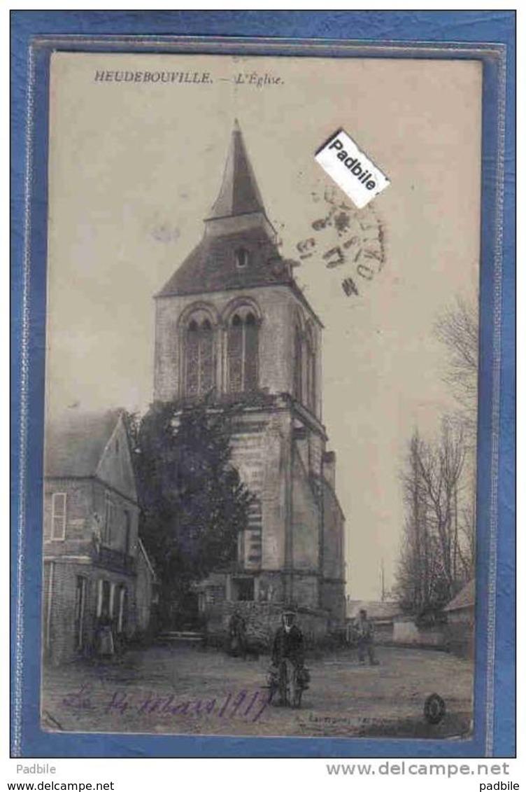 Carte Postale 27. Heudebouville  L'église  Trés Beau Plan - Autres Communes