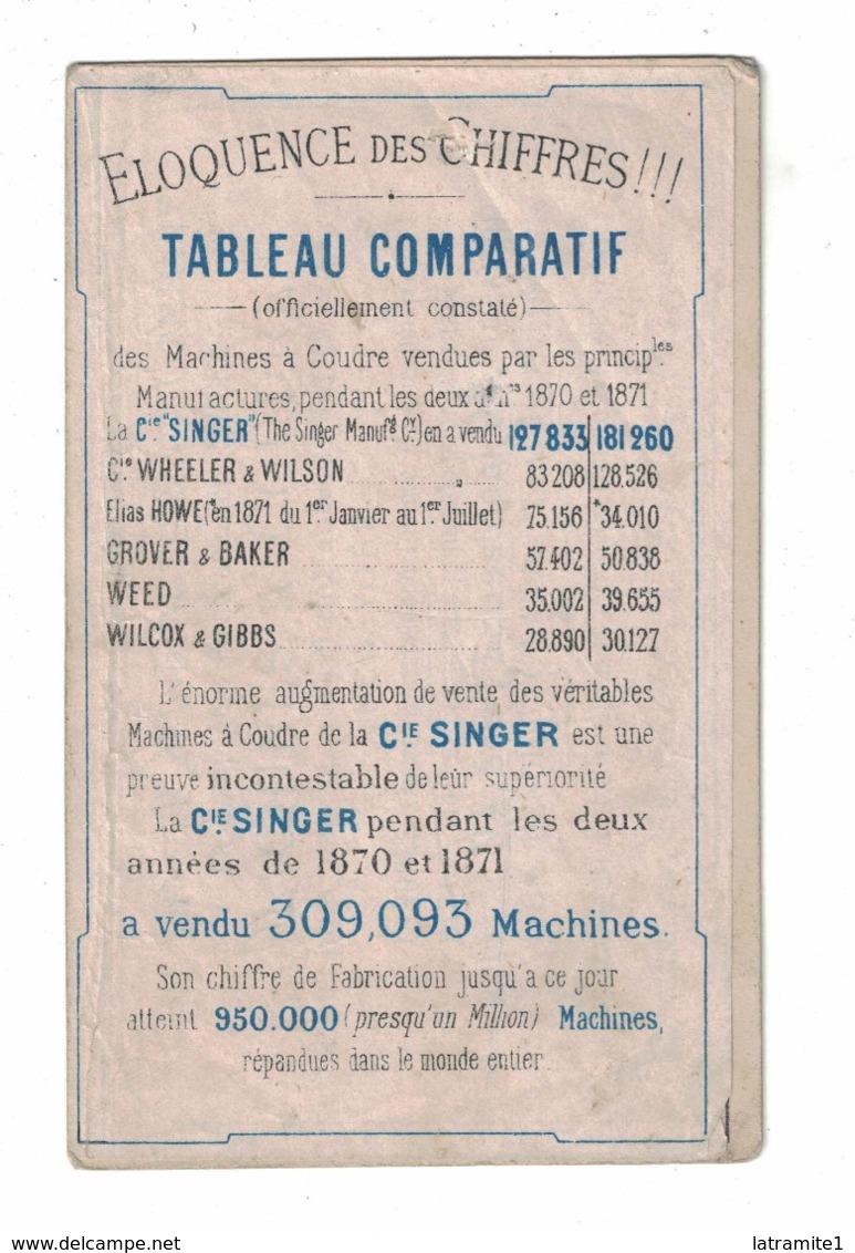COMPAGNIA SINGER MACCHINE DA CUCIRE  MACHINES A COUDRE  CARTONCINO PUBBLICITARIO - Pubblicitari