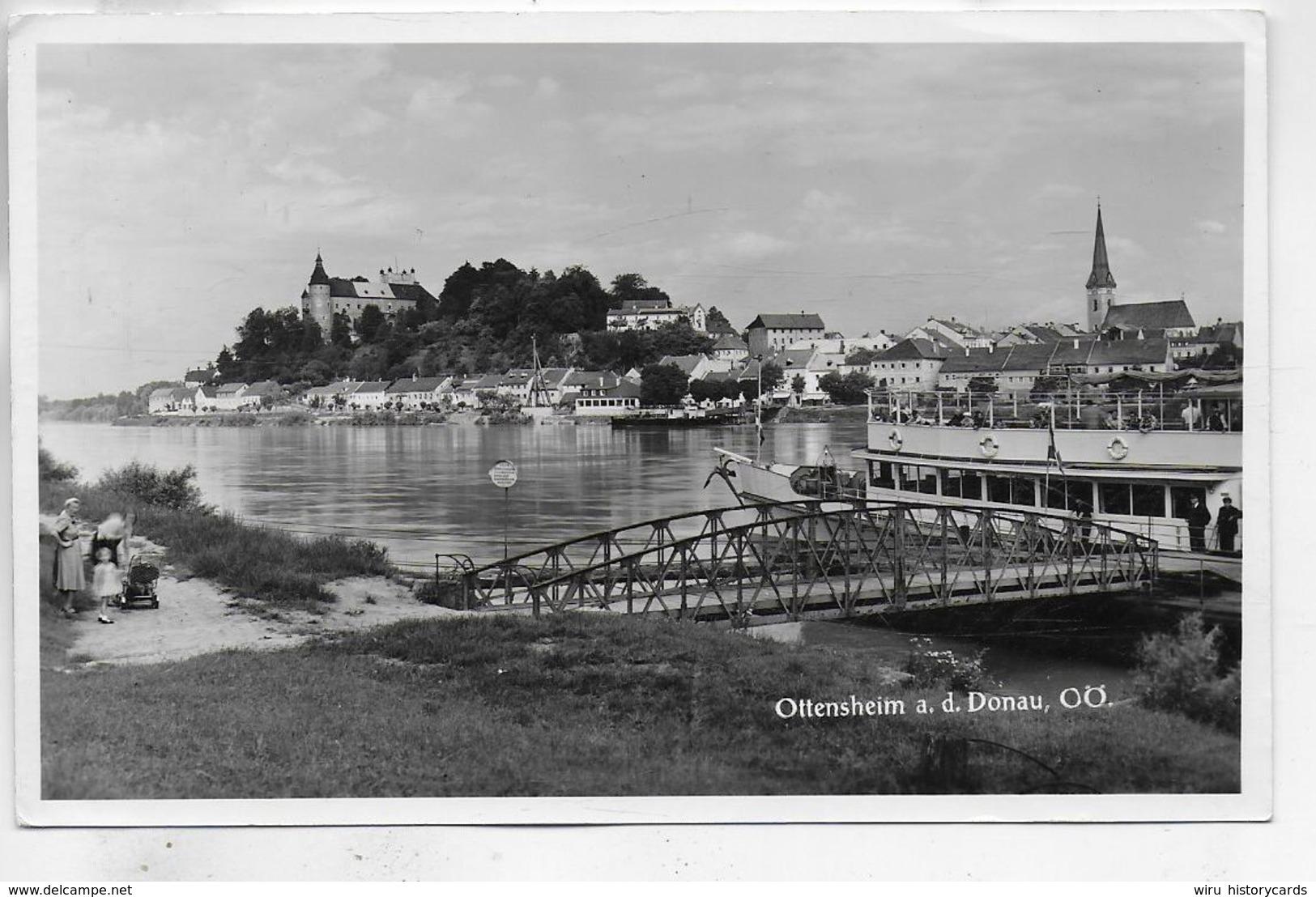 AK 0329  Ottensheim Mit Donaudampfer Um 1950 - Linz Urfahr