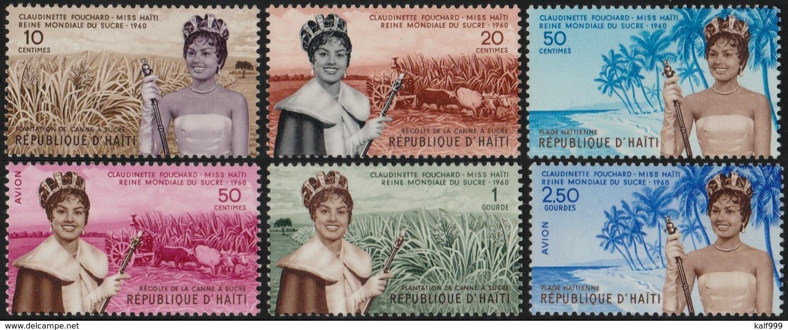 ~~~ Haiti 1960 - Miss Haiti Fouchard  - Mi. 615/620 ** MNH  Depart 1 Euro ~~~ - Haití