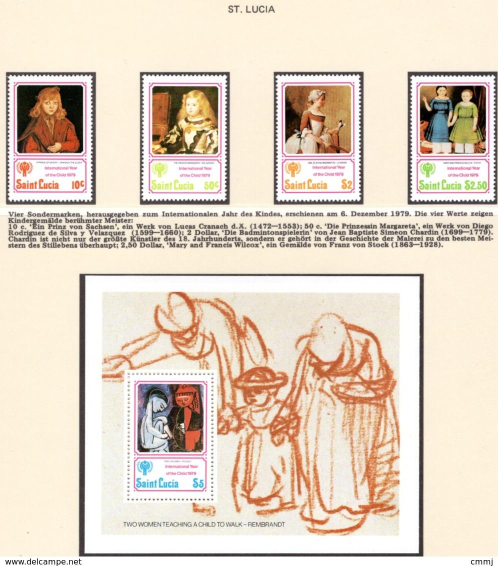YEAR INTERN. OF CHILD - ST. LUCIA  - Mi. Nr. 462/465+ BF 17 - NH - (6532-2.) - St.Lucia (1979-...)