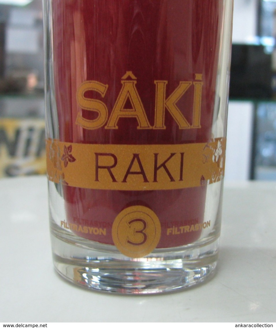 AC - SAKI RAKI 3 X FILTRATED/ DISTILLED GLASS FROM TURKEY - Other Collections