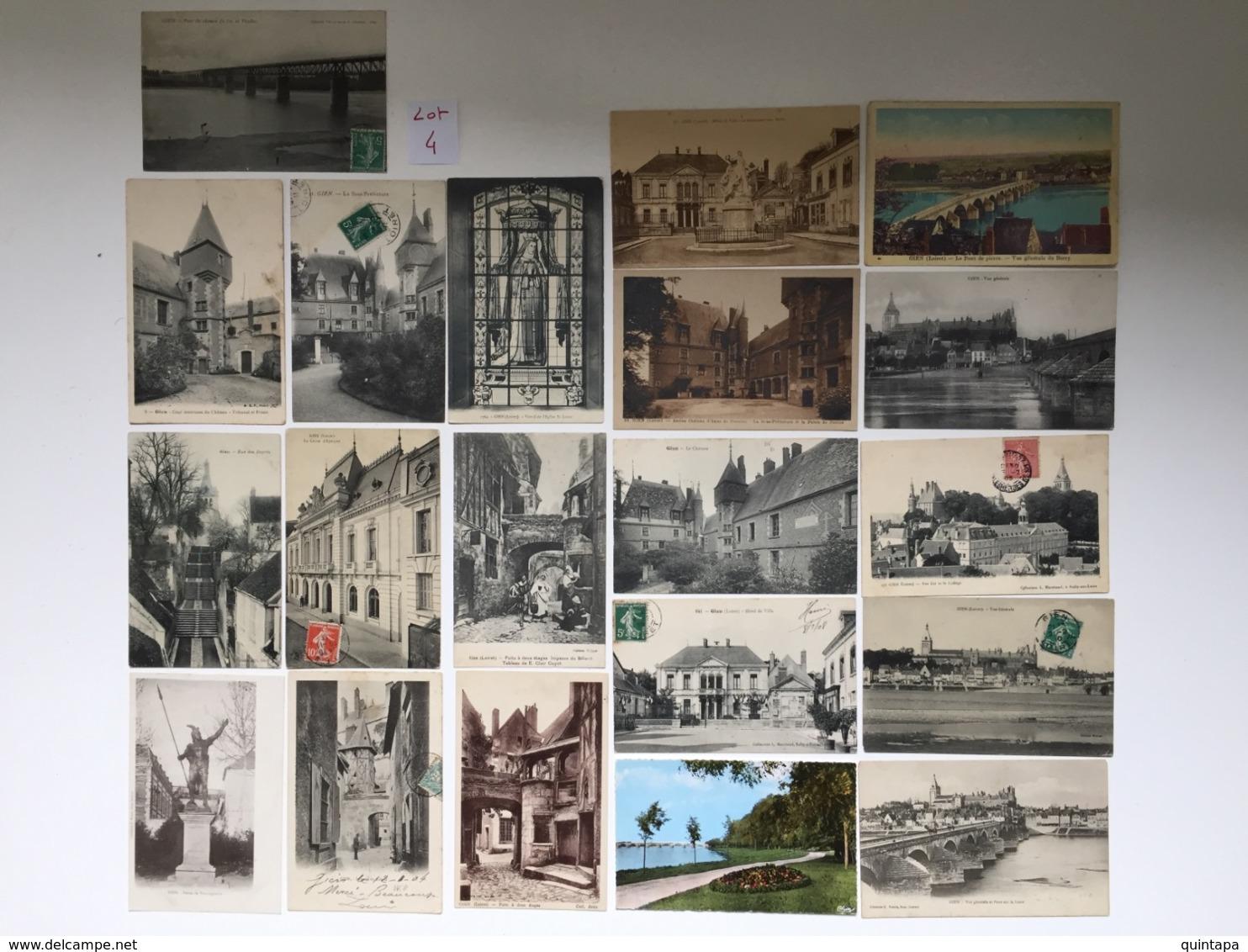 Lot De 20 Cartes Anciennes De GIEN - Loiret Lot N°4 - Cartes Postales