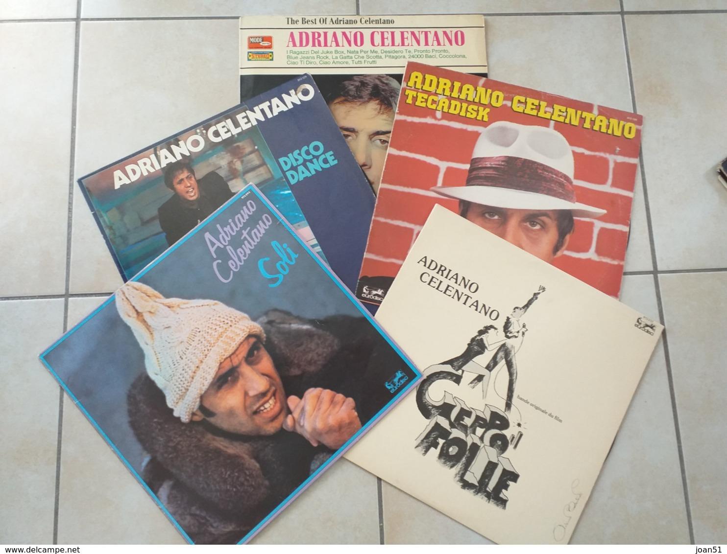 ADRIANO CELENTANO LOT DE 5 X 33 TOURS - Rock