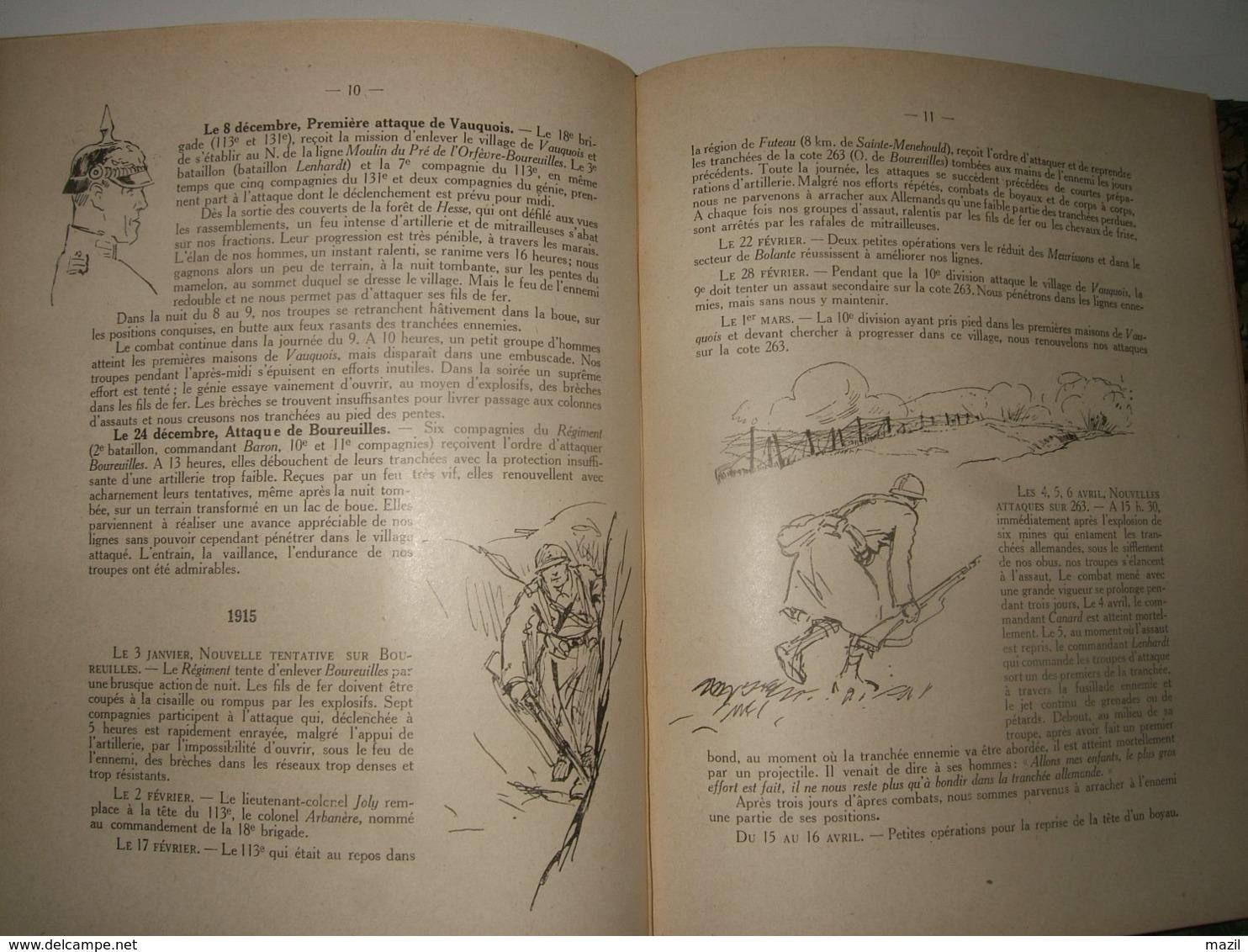 - 113e Régiment D' Infanterie ( Garnison : Blois ) : Historique - Documents