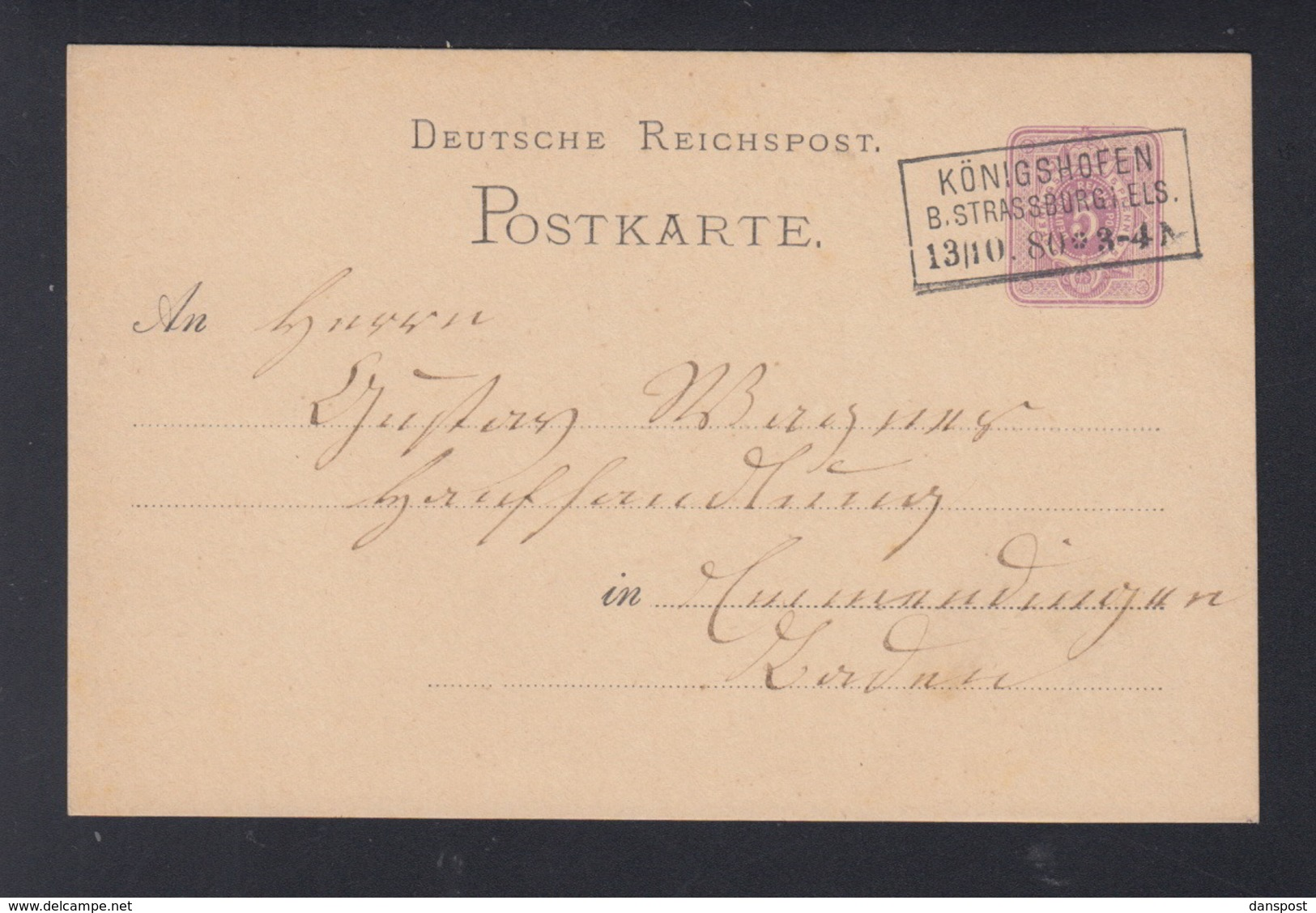 Dt. Reich GSK Königshofen B. Strassburg - Deutschland