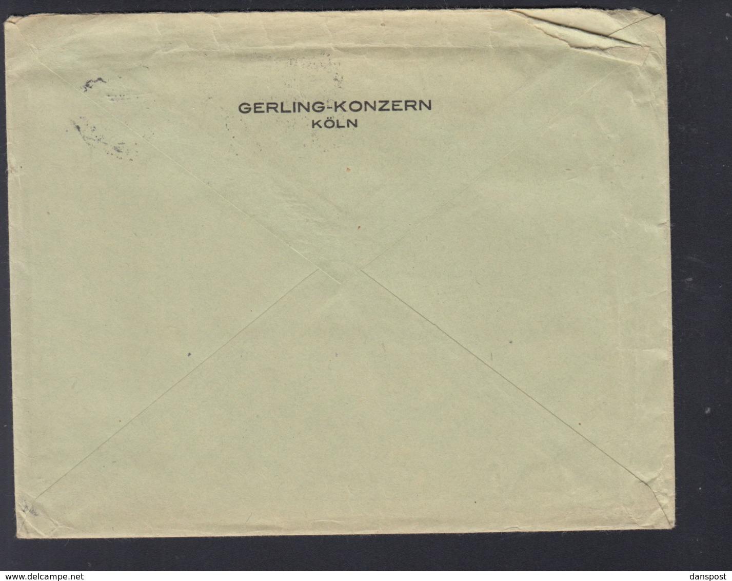 Dt. Reich Brief 1927 Lochung Gerling Konzern Köln - Deutschland