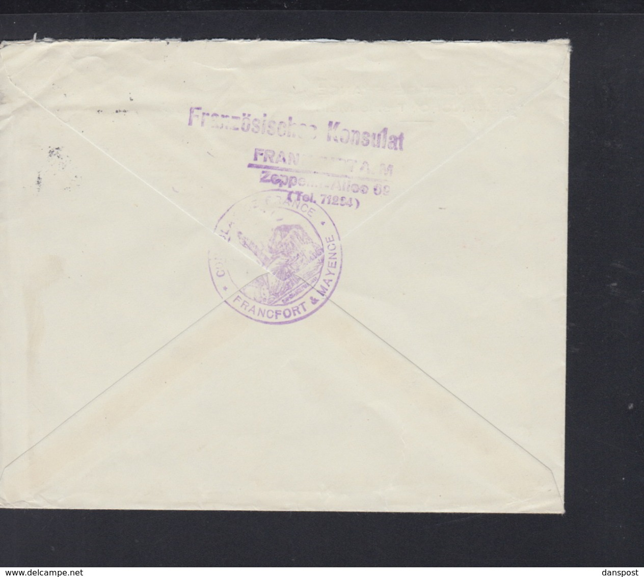 Dt. Reich Brief Consulat De France A Francfort 1937 Gelaufen - Briefe U. Dokumente