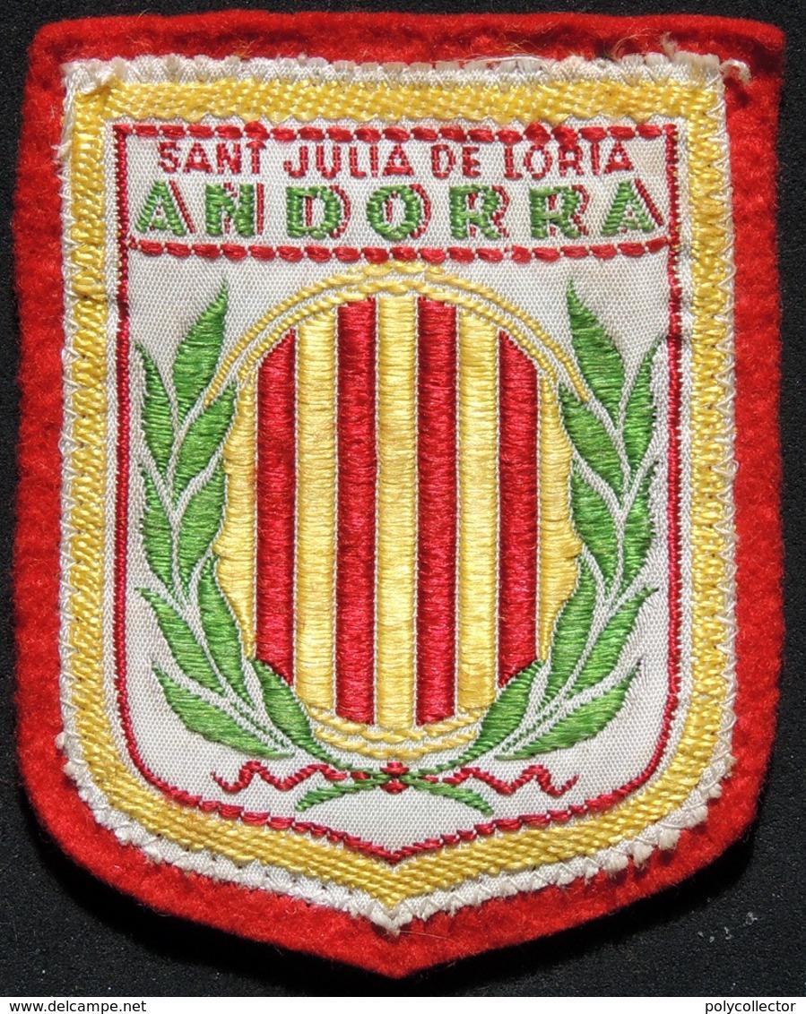 Patch Écusson Tissu Touristique : Andorra - Sant Julia De Loria - Blason - Ecussons Tissu