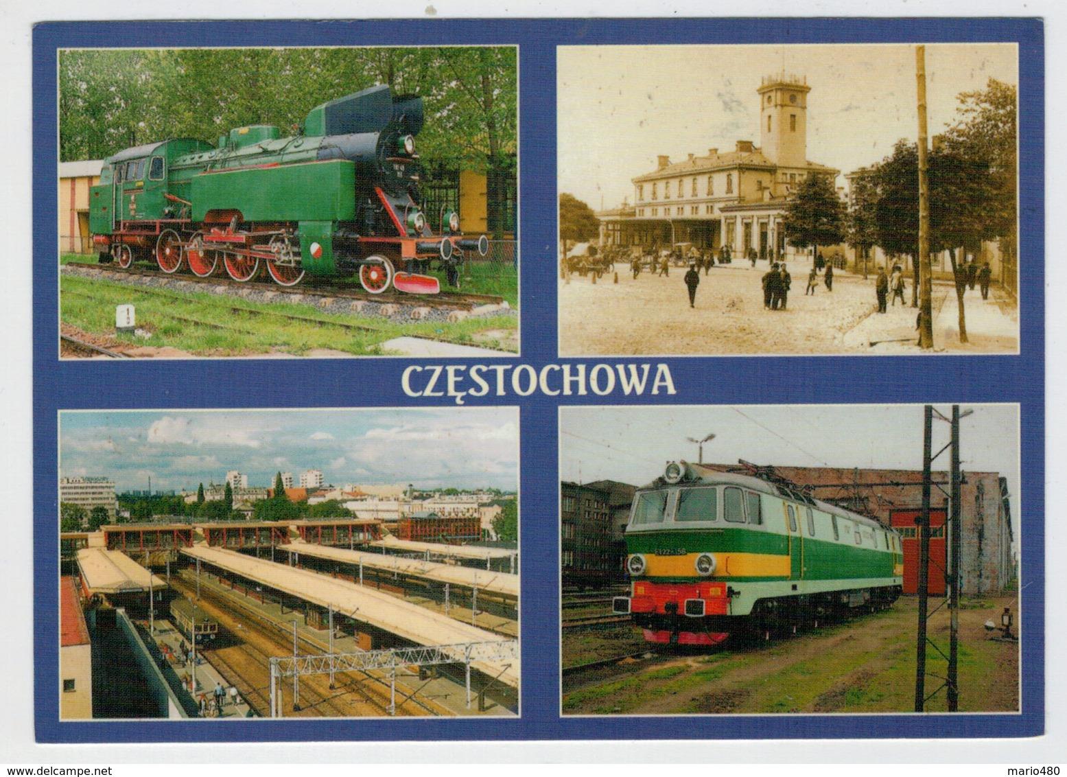 POLAND       TRAIN- ZUG- TREIN- TRENI- GARE- BAHNHOF- STATION- STAZIONI    2  SCAN  (NUOVA) - Treni