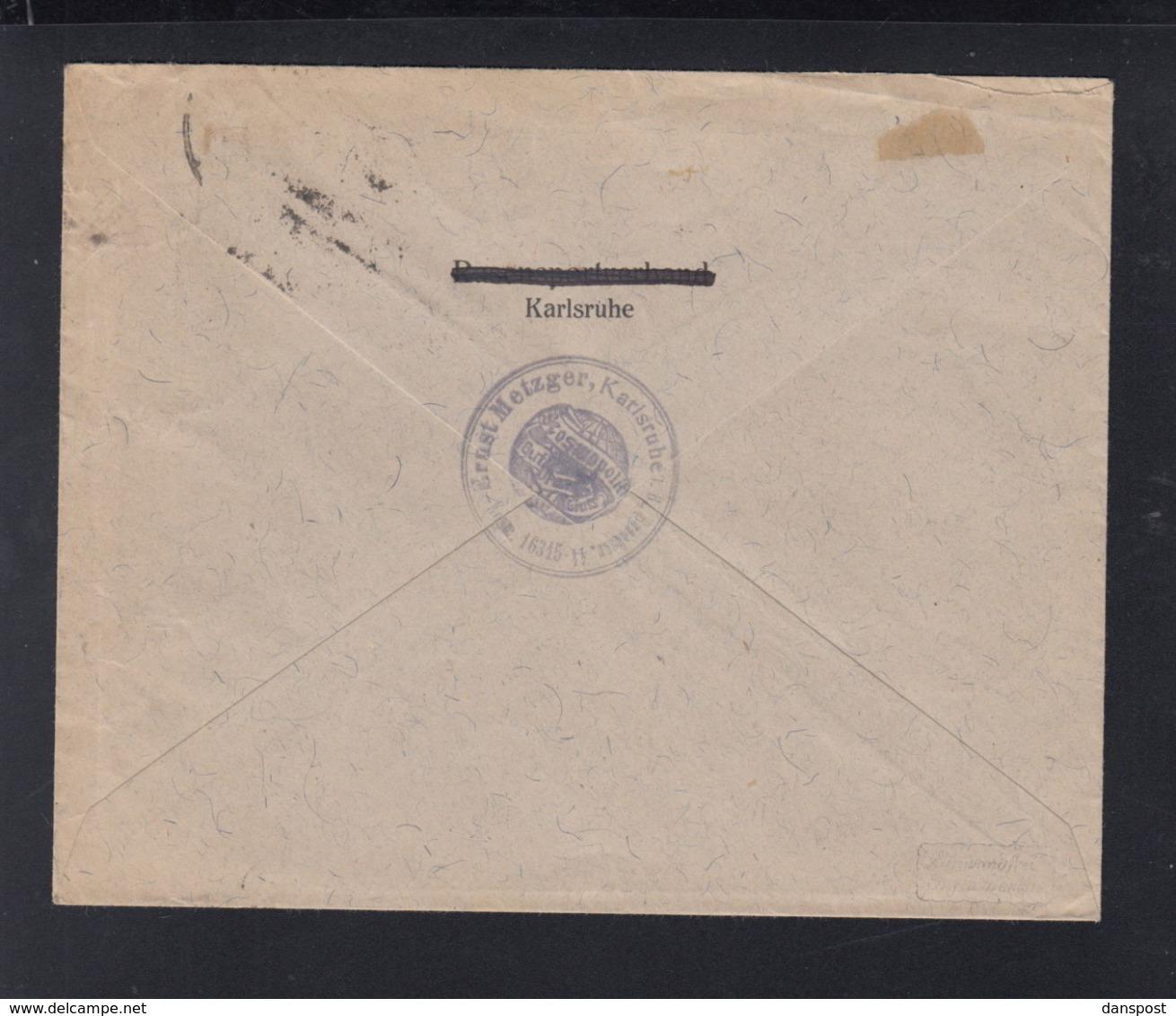 Dt. Reich Brief 1922 Karlsruhe Nach Graz - Briefe U. Dokumente