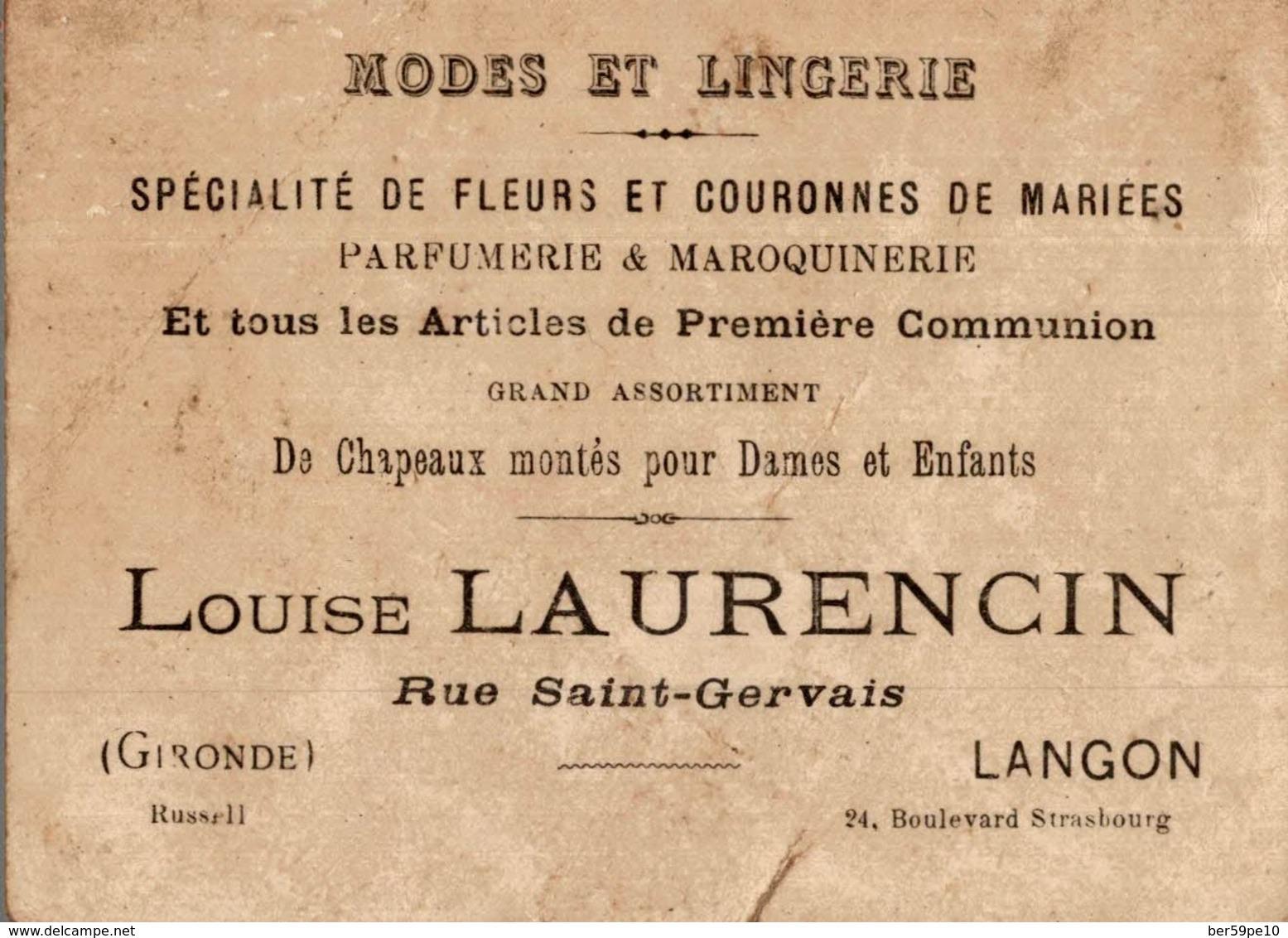 CHROMO MODE ET LINGERIE LANGON  CARTE GEOGRAPHIQUE  MARTINIQUE - Trade Cards