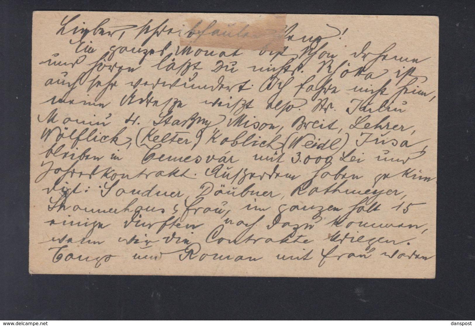 Romania Stationery Uprated Cluj To Czech Republic - 1918-1948 Ferdinand, Carol II. & Mihai I.