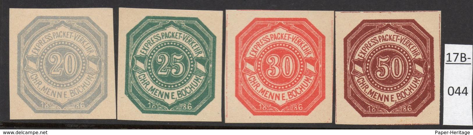 Germany Deutschland Privatpost Local Post Stadtpost : Bochum Mi. A. 1B-4B MH. - Private