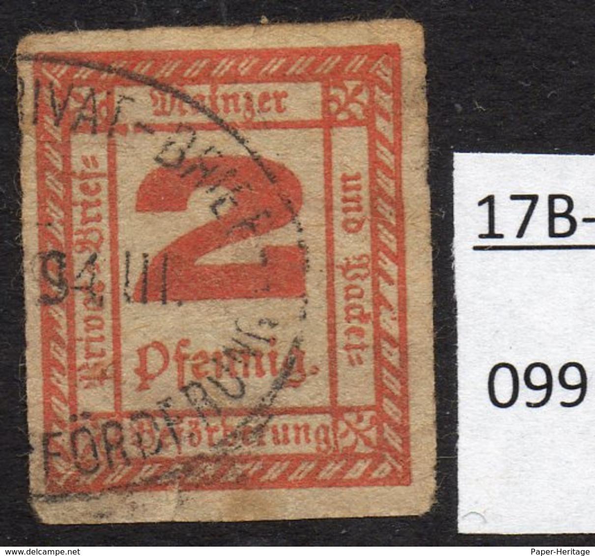 Germany Deutschland Privatpost Local Post Stadtpost :  Mainz Mi. C. 51 Used – See Text. - Private