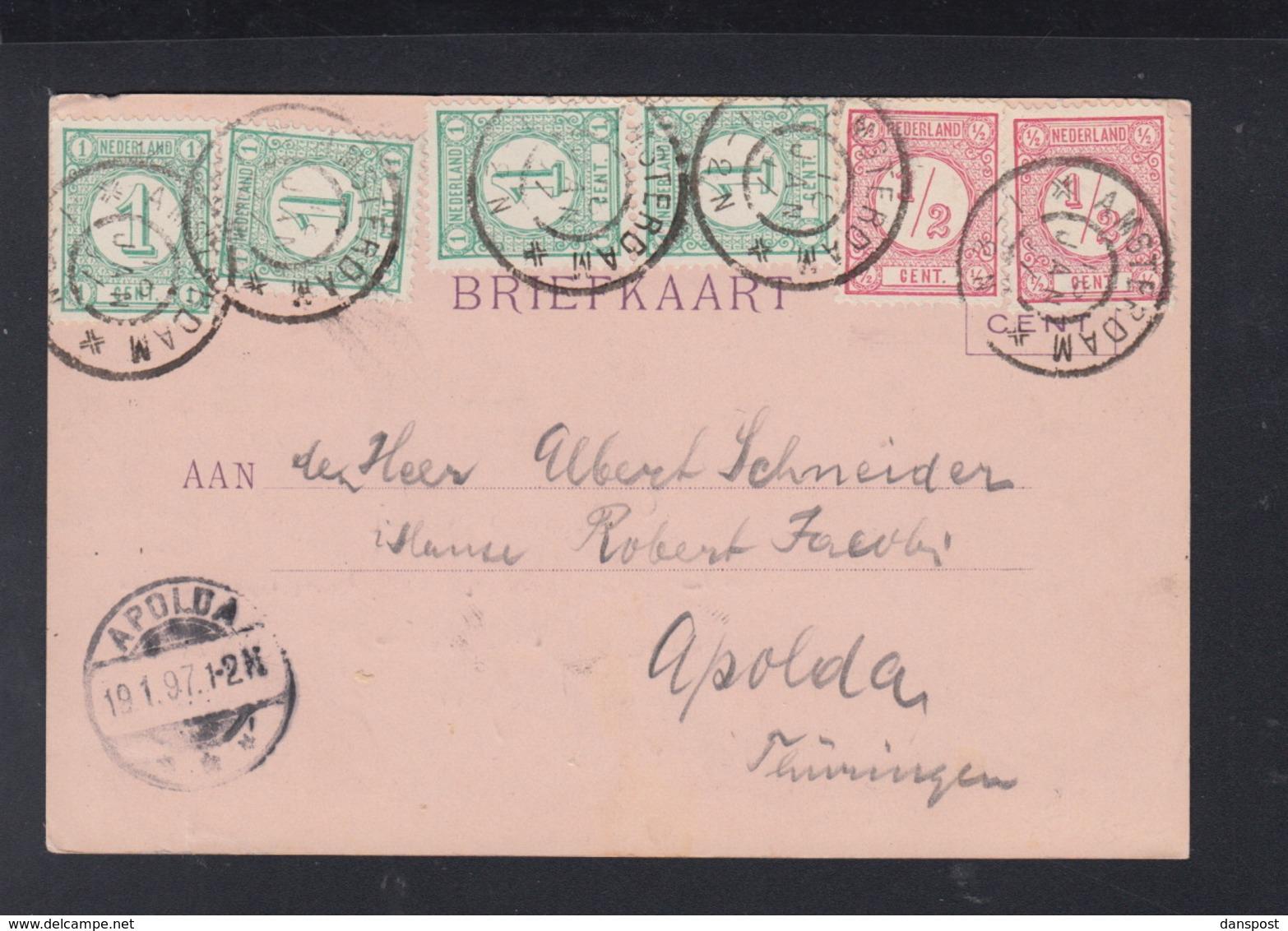 Postkaart Amsterdam 1897 - Periode 1891-1948 (Wilhelmina)