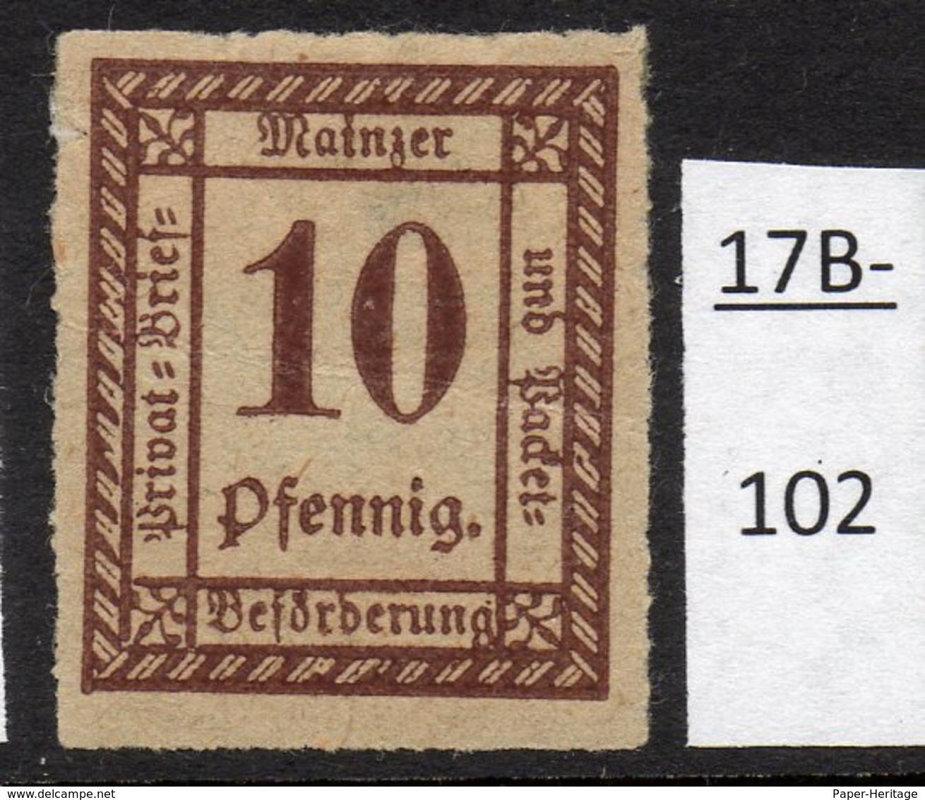 Germany Deutschland Privatpost Local Post Stadtpost :  Mainz Mi. C. 53 MH - Faults - Private