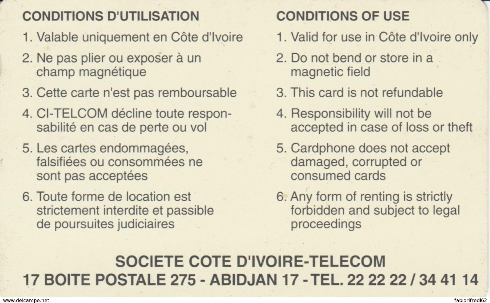 PHONE CARD-COSTA D'AVORIO (E48.8.2 - Côte D'Ivoire