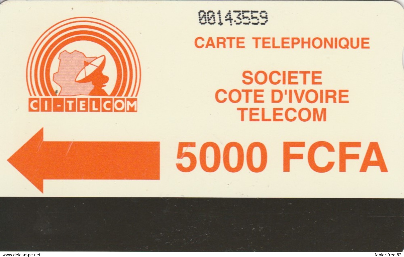 PHONE CARD-COSTA D'AVORIO (E48.8.3 - Côte D'Ivoire