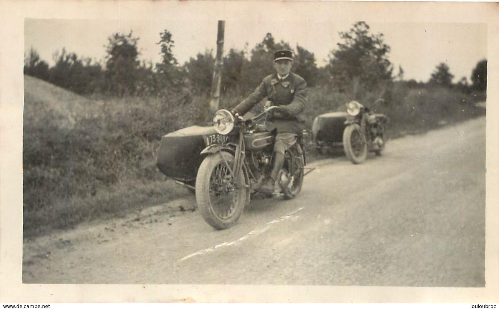 PHOTO ORIGINALE MOTOCYCLETTE ET SIDE CAR FORMAT  11.50 X 7 CM - Other