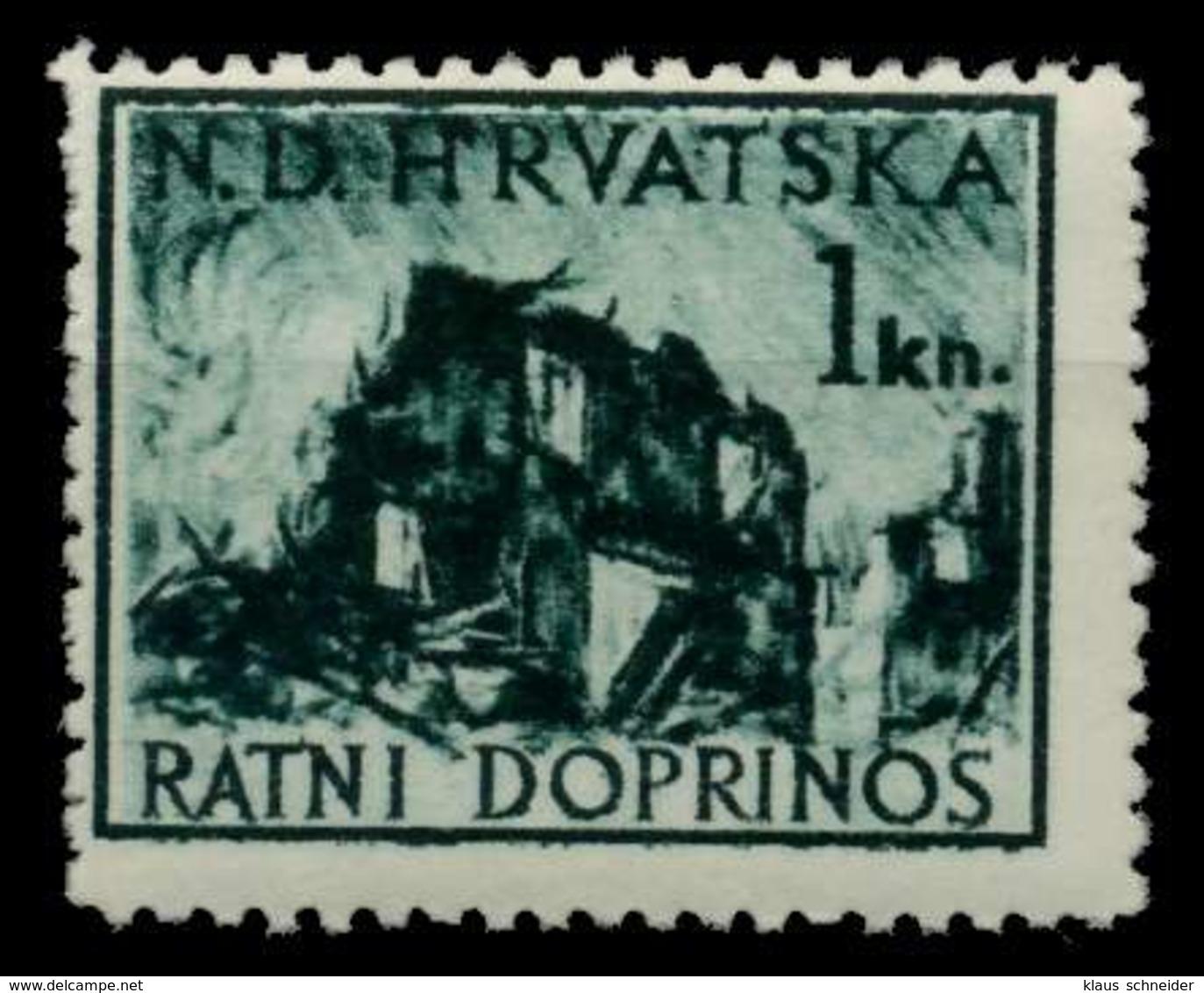 KROATIEN ZWANGSZL Nr 3 Postfrisch X92566E - Croazia