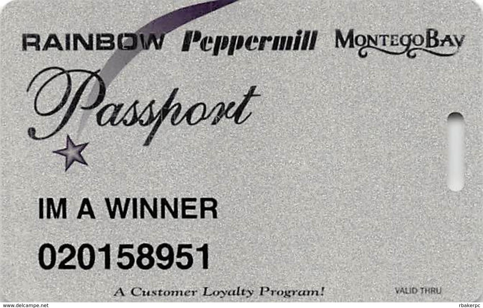 Wendover Resorts - Rainbow, Peppermill & Montego Bay Casinos - Slot Card - Casino Cards