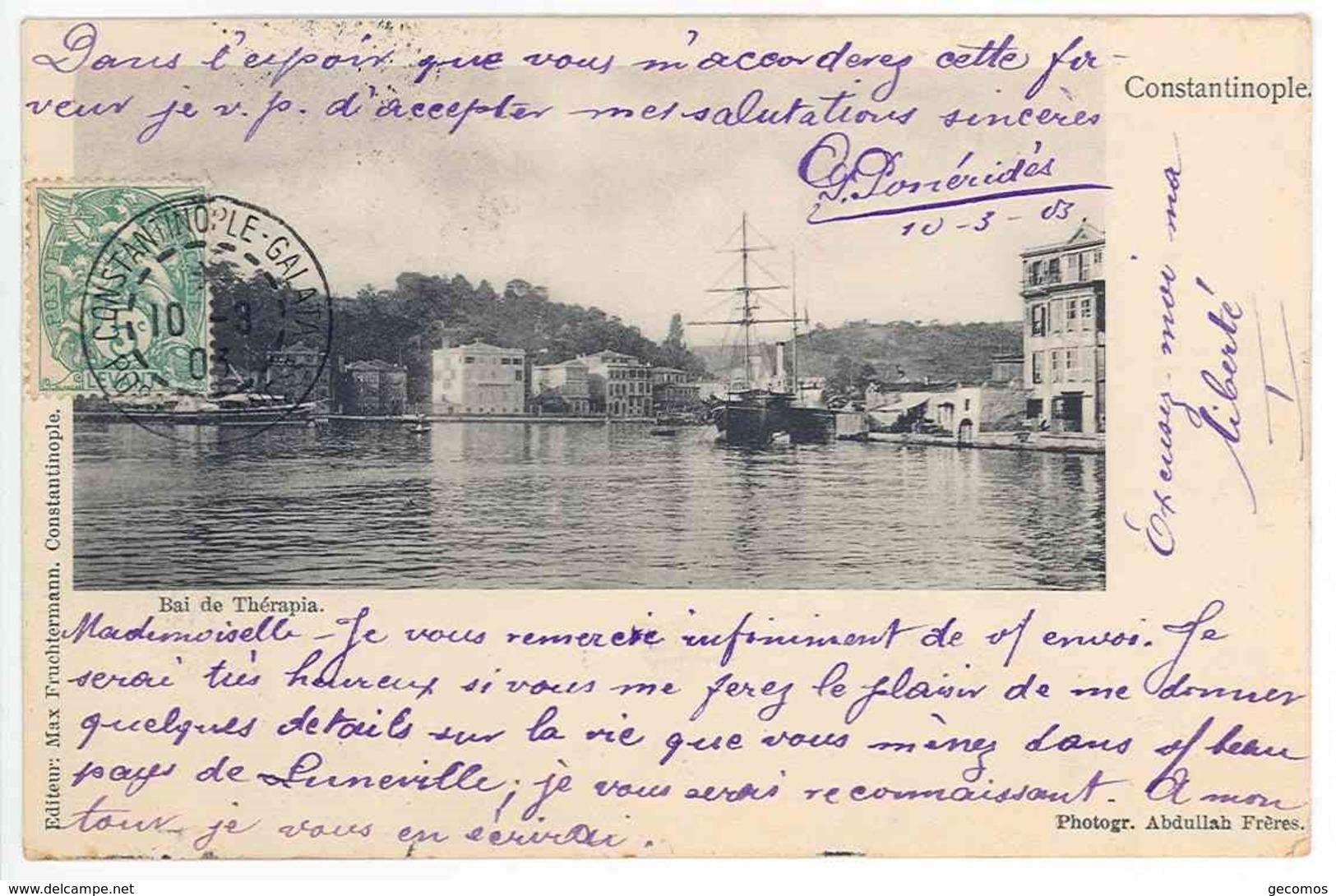 TURQUIE - CONSTANTINOPLE - Baie De Thérapia - Turquie