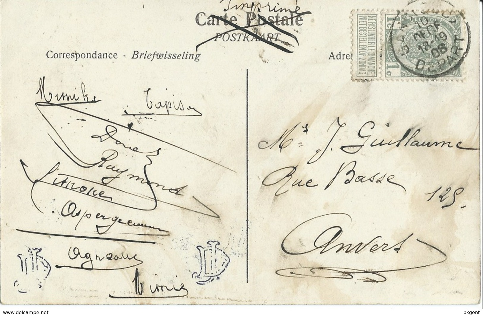 20 Gent Gand Kerk Klein Begijnhof Met Postzegel.  Perfecte Staat. Zie Scans - Gent