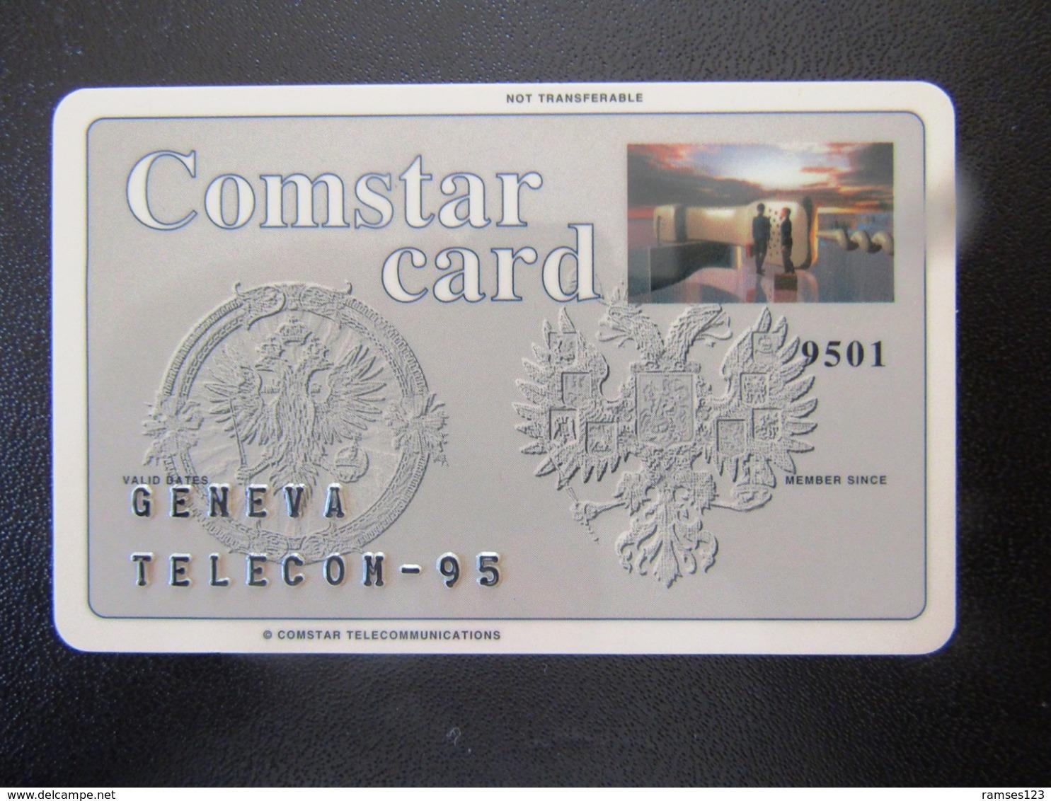 RR   RUSSIE COMSTAR    EMBOSSEE   GENEVA    TELECOM 95 - Russie