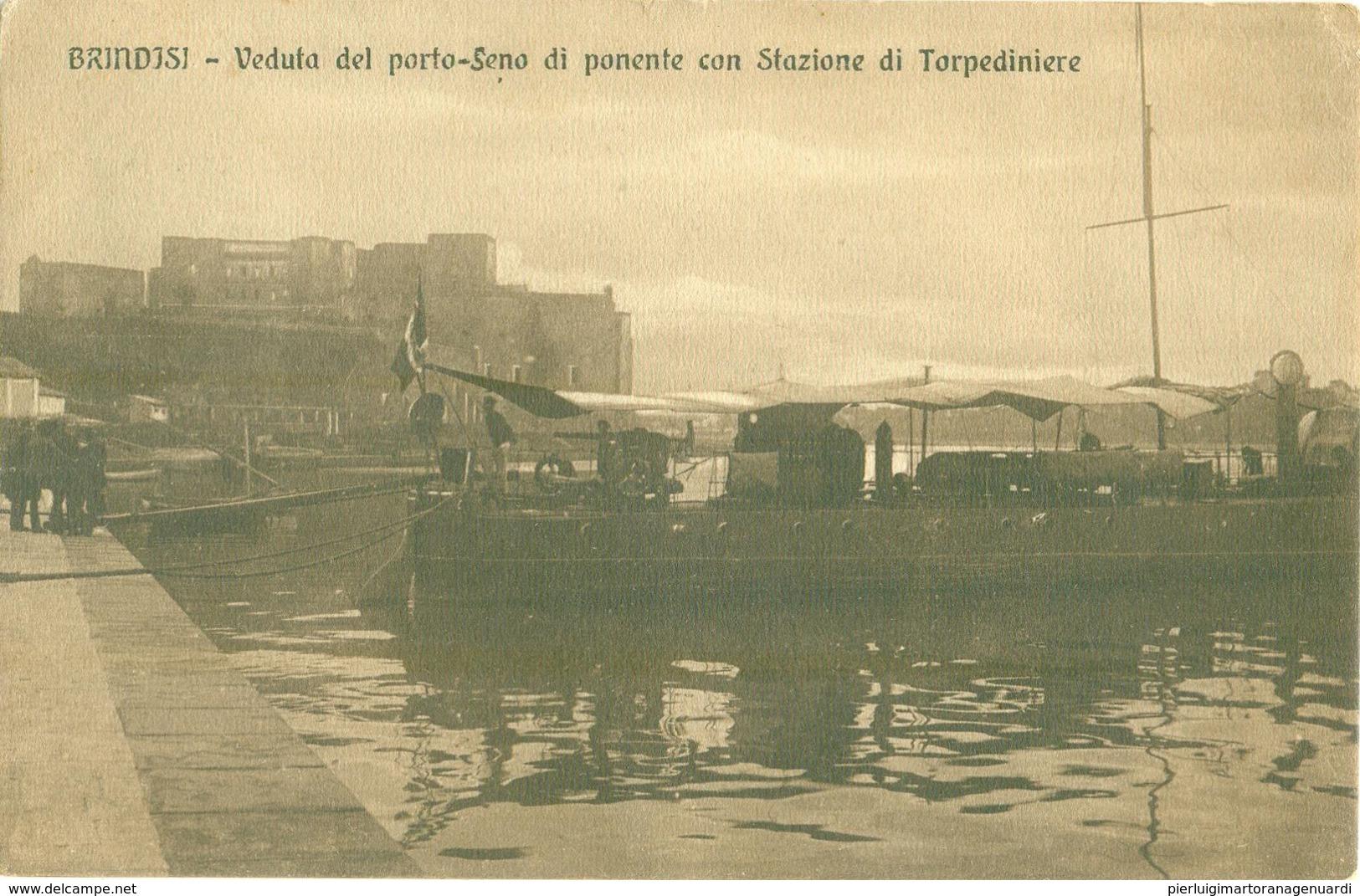 12820 - Brindisi - Veduta Del Porto - Seno Di Ponente Con Stazione Di Torpediniere F - Brindisi