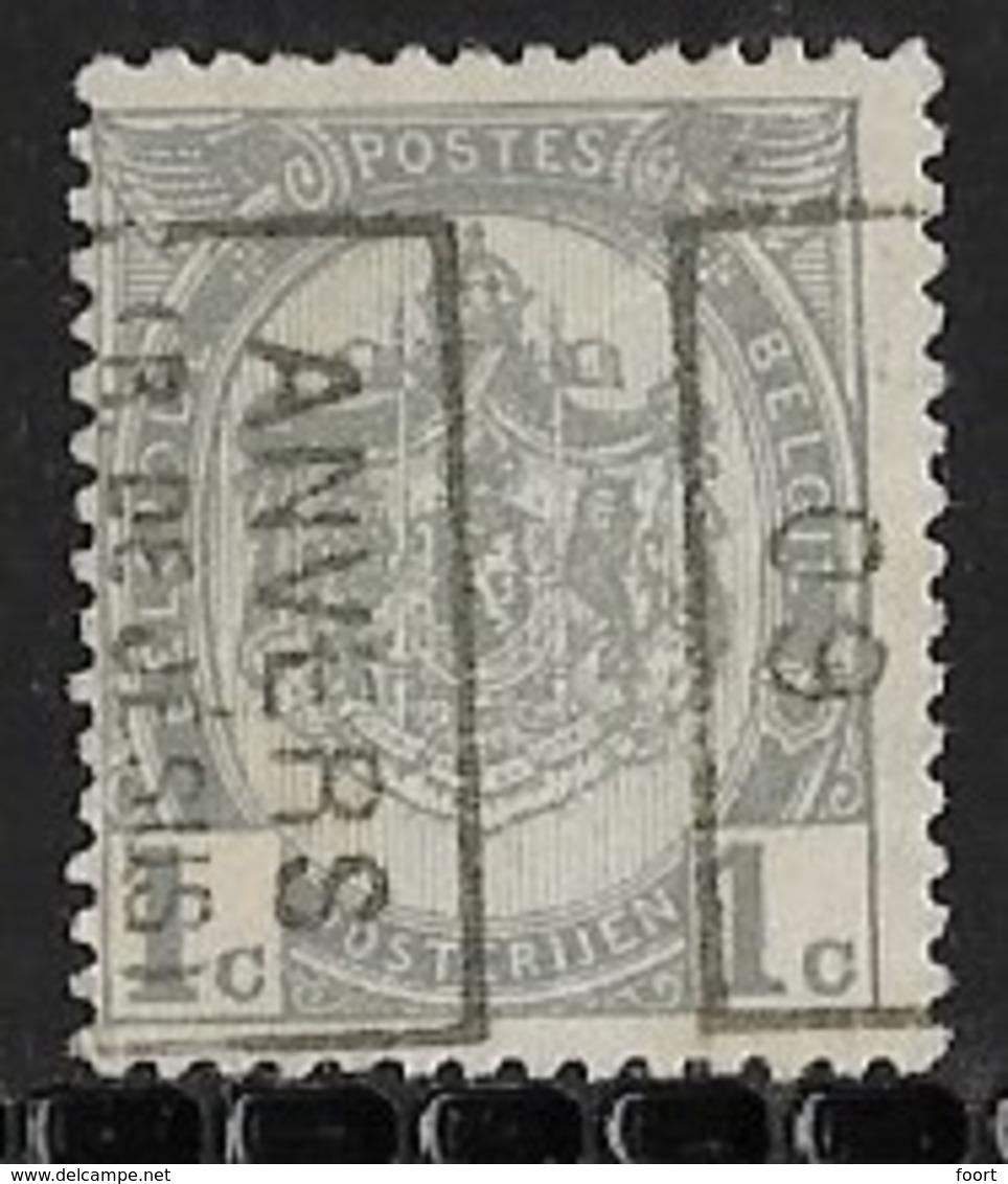 Antwerpen Rue Jesus 1909 Nr. 1292Bzz - Préoblitérés