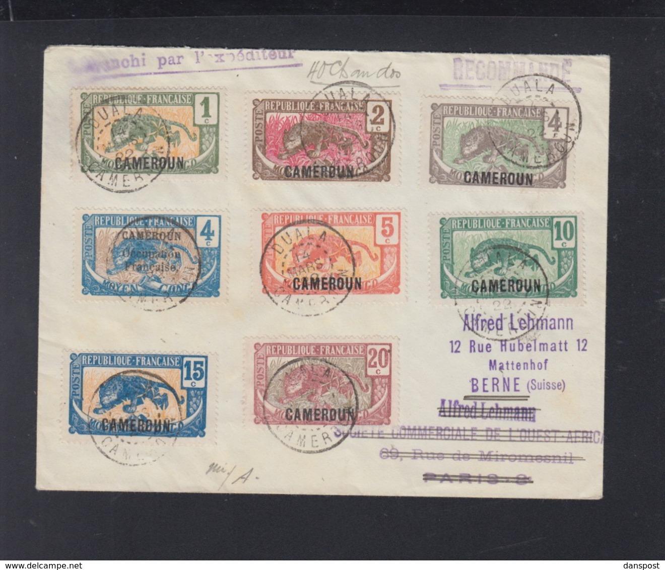 France  Cameroun Lettre 1922 Pour La Suisse - Kamerun (1915-1959)